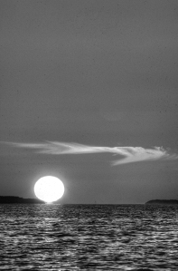 Monochrome Sunset Wisp